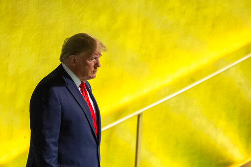 President Donald Trump arrives to the United Nations General Assembly at U.N. headquarters on Sept. 24, 2019. (AP/Altaffer)
