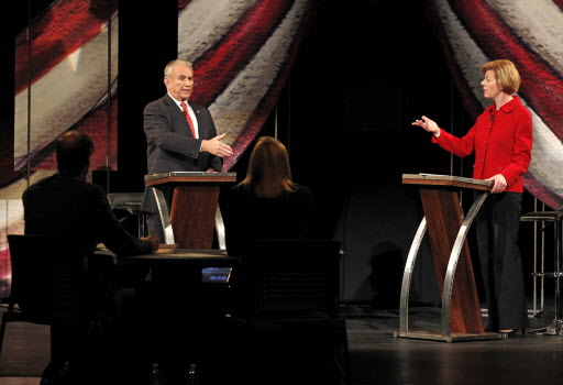 Republican Tommy Thompson and Democrat Tammy Baldwin debated in Wausau in the second of three scheduled U.S. Senate debates.