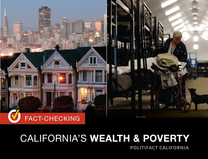 California has one of the world's largest economies and the nation's highest poverty rate. Graphic by Capital Public Radio