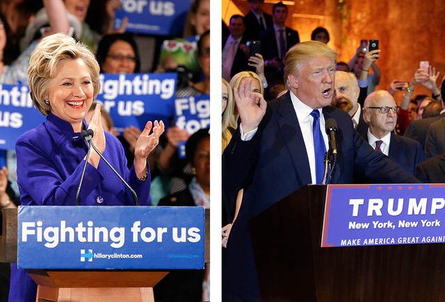 Hillary Clinton and Donald Trump (Associated Press file photos)